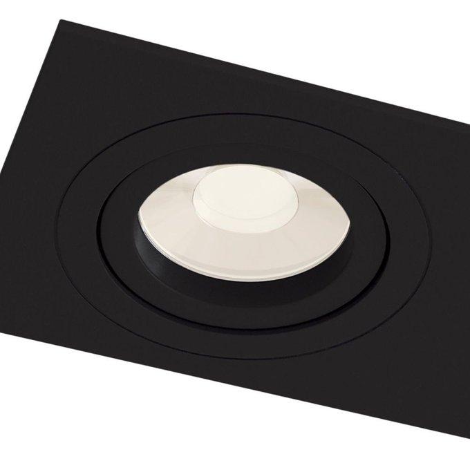 Встраиваемый светильник Atom черноого цвета