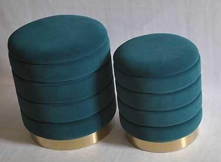 Набор из двух пуфов Dallas темно-бирюзового цвета