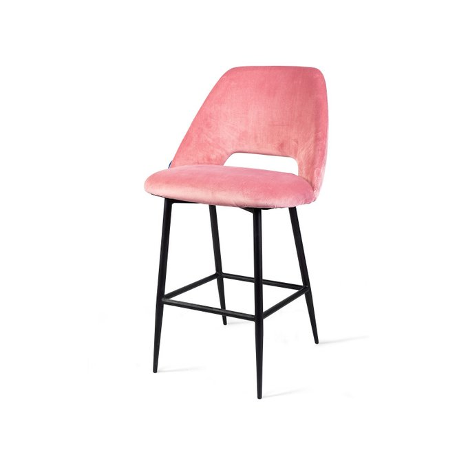 Стул полубарный Ferotta розового цвета