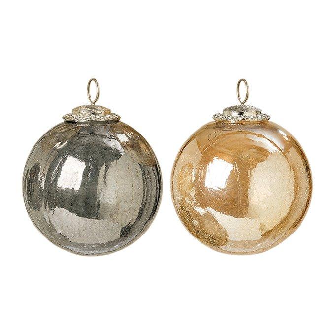 Новогодний шар Ball сет 2 шт из стекла