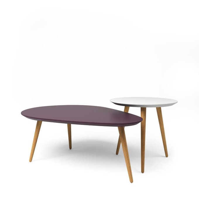 Комплект журнальных столов Scale бело-фиолетовый