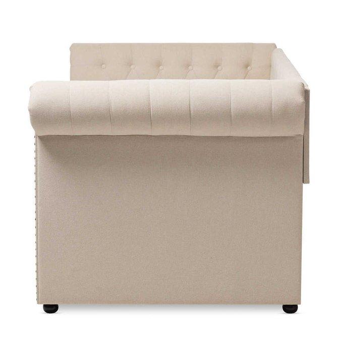 Диван-кровать Chelsy бежевого цвета с ящиками для белья 90х200