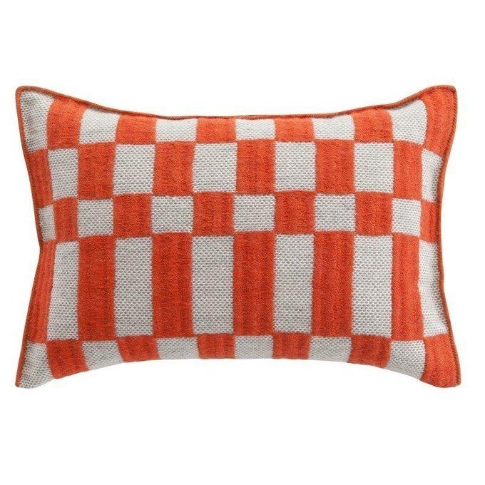 Подушка Bandas Space оранжево-белого цвета