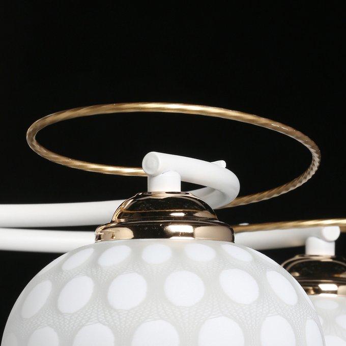Потолочная люстра Грация с золотой отделкой