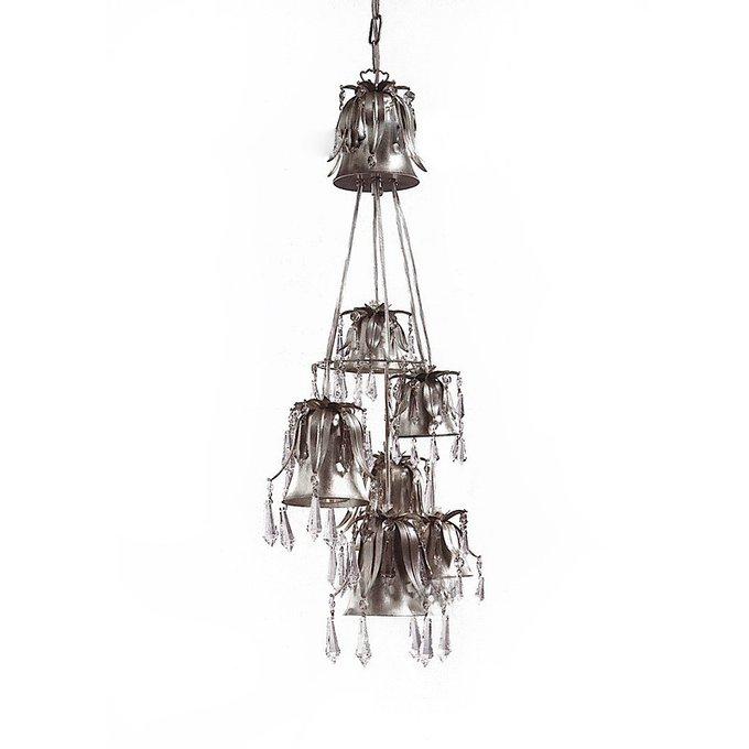 Подвесной светильник Lucienne Monique с хрустальными подвесками и кулонами