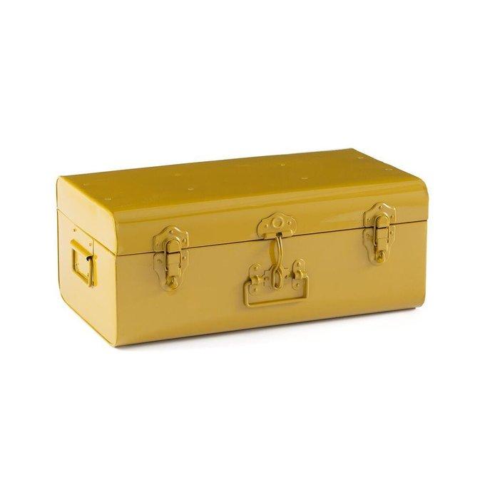 Сундук-чемодан Masa из металла желтого цвета