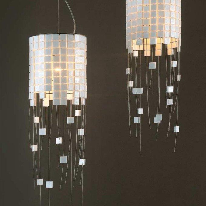 Подвесной светильник Arturo Alvarez GILDA из керамической мозаики белого цвета