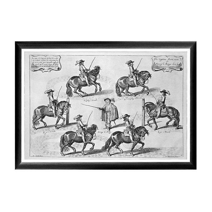 Арт-постер Новейший метод конного искусства гравюра 2
