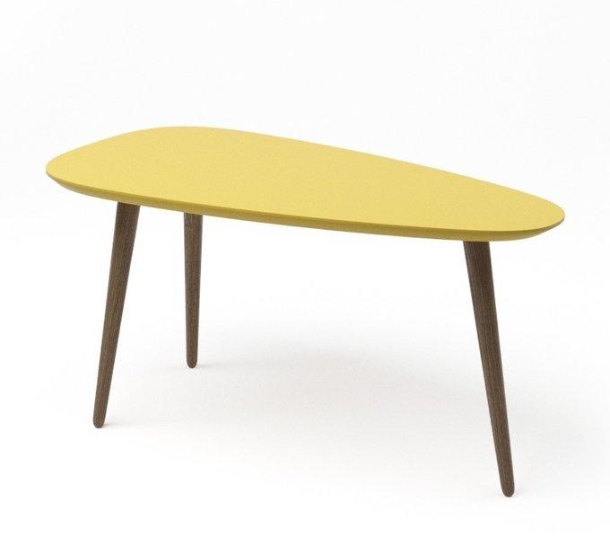 Журнальный стол River Long желтого цвета