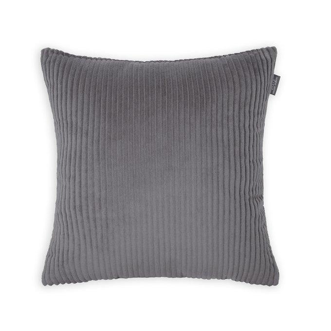 Декоративная подушка Cilium Stone темно-серого цвета