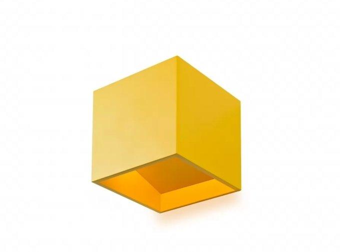 Настенный светильник Dice желтого цвета