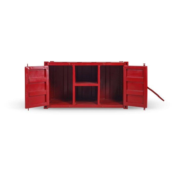 Комод под ТВ Industria красного цвета