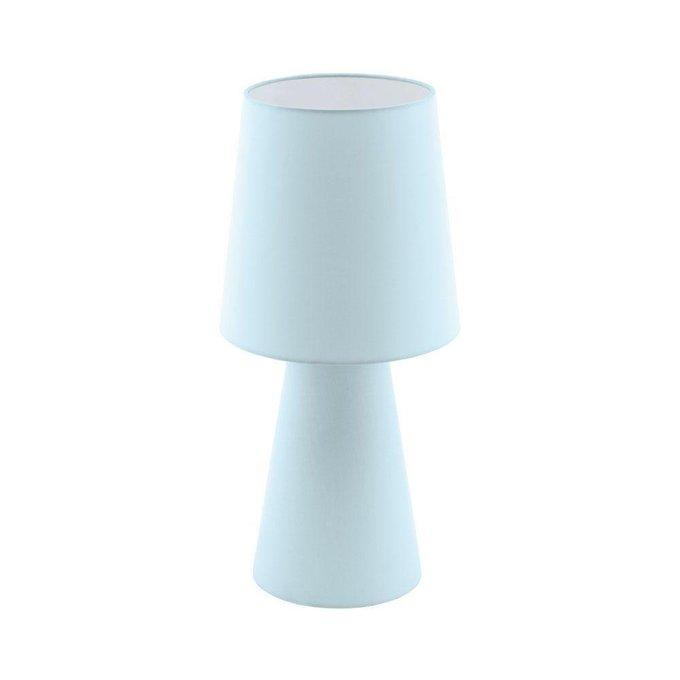 Настольная лампа Carpara голубого цвета