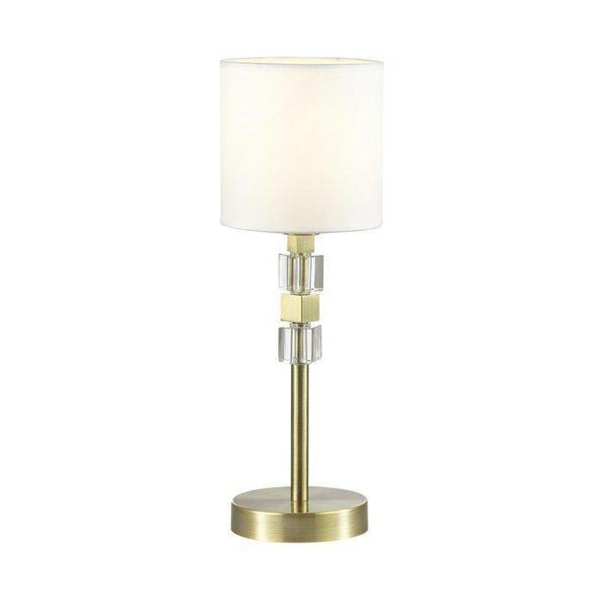 Настольная лампа Pavia с белым абажуром