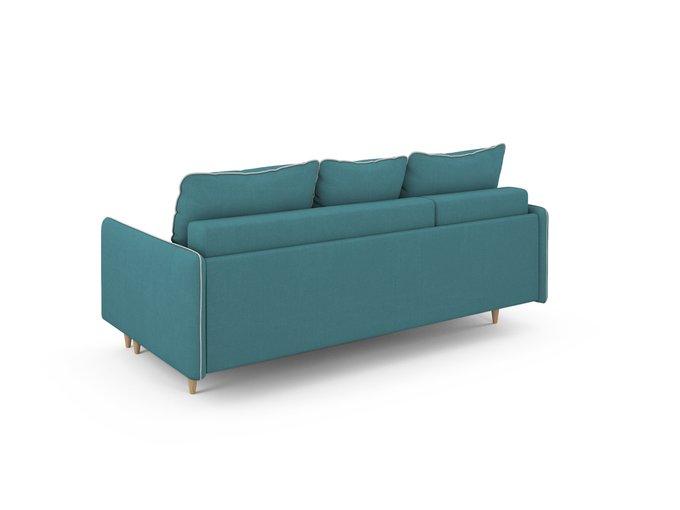 Угловой Диван-кровать Ron левый бирюзового цвета