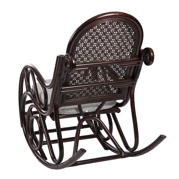 Кресло-качалка Novo с подушкой орех