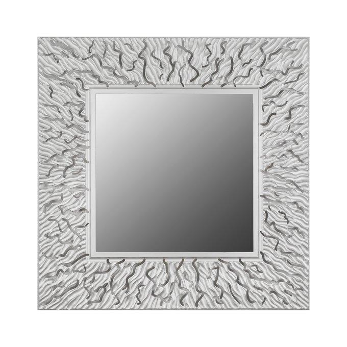 Настенное зеркало CORAL square silver