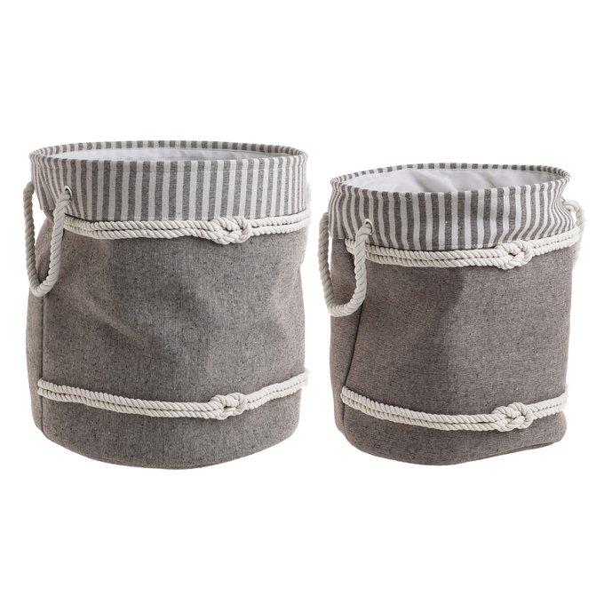 Набор из двух корзин из хлопка
