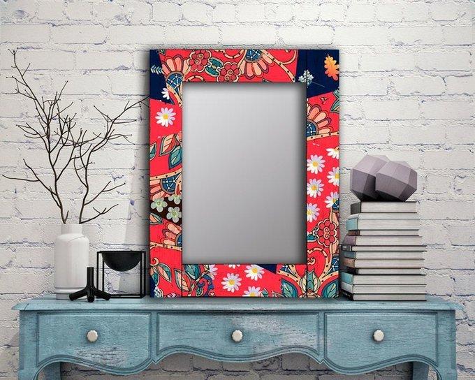 Настенное зеркало Август в раме из массива сосны 75х170