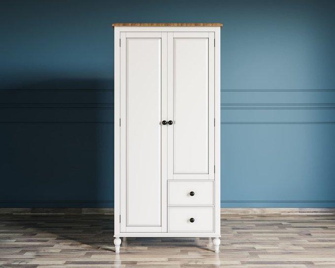 Шкаф двухстворчатый Odri с двумя ящиками