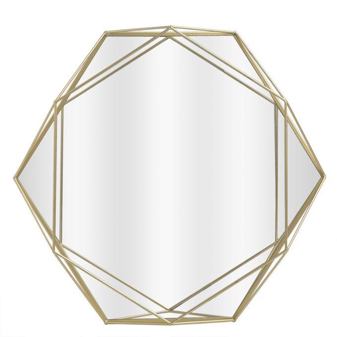 Зеркало настенное шестиугольной формы