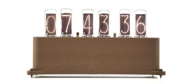 Ламповые часы VacuumGlow VENEZE Brown Coal