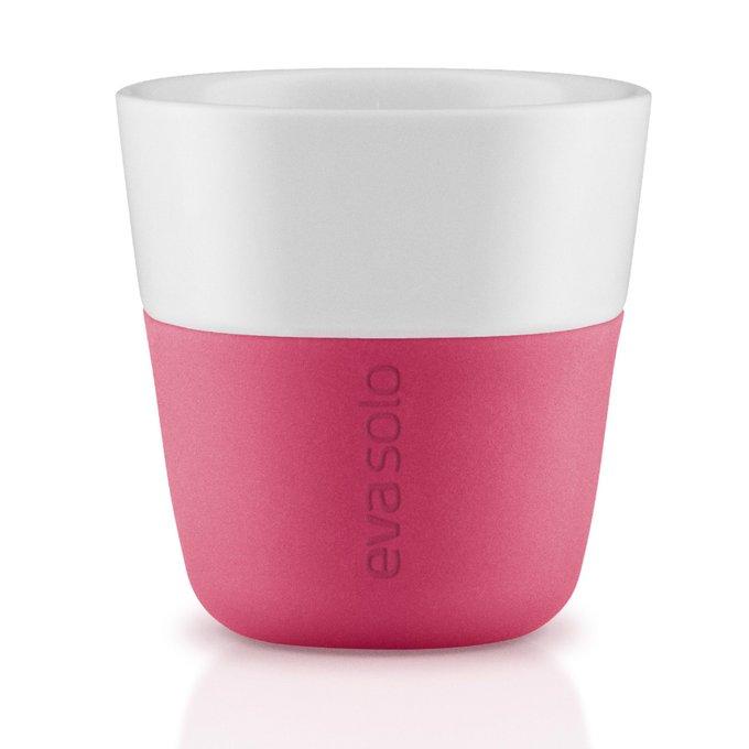 Набор из двух чашек для эспрессо розово-белого цвета
