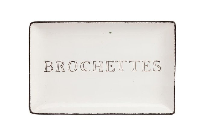 Декоративное блюдо Brochettes White