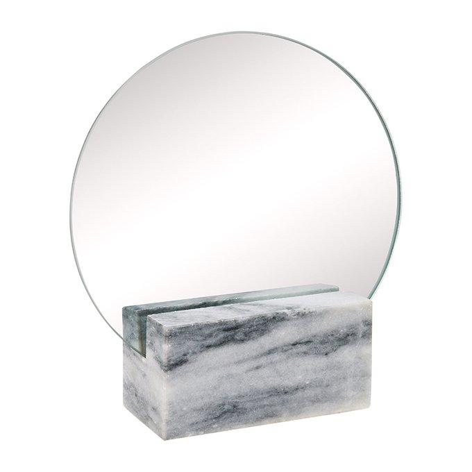 Туалетное зеркало Humana с мраморной подставкой