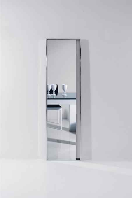 Напольное зеркало Exclusive в серебристой раме