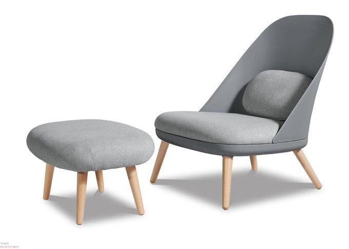 Кресло Noah grey серого цвета