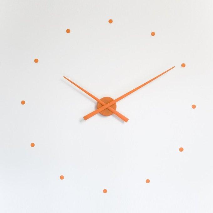 Настенные часы OJ Orange из пластика оранжевого цвета