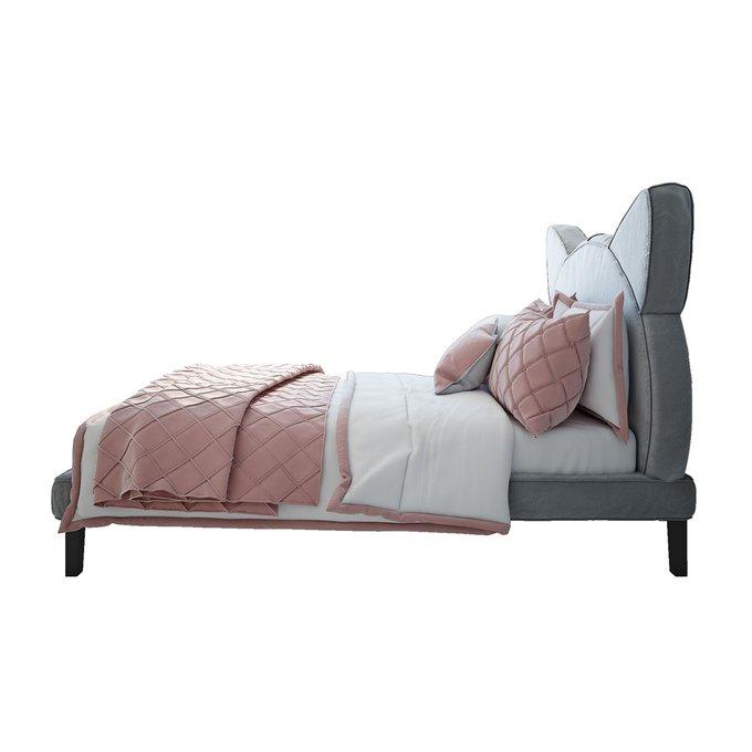 Кровать Kitty серого цвета 160х200