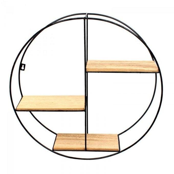 Стеллаж настенный круглой формы
