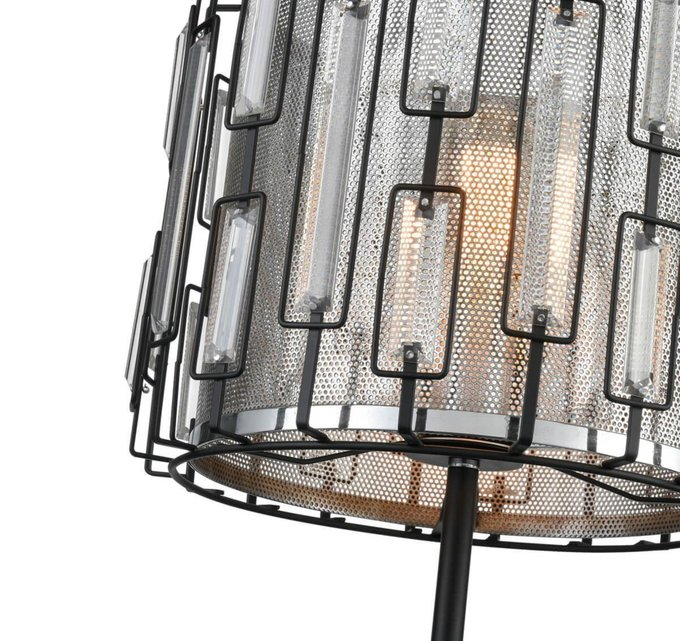 Настольная лампа Charlie черно-серого цвета
