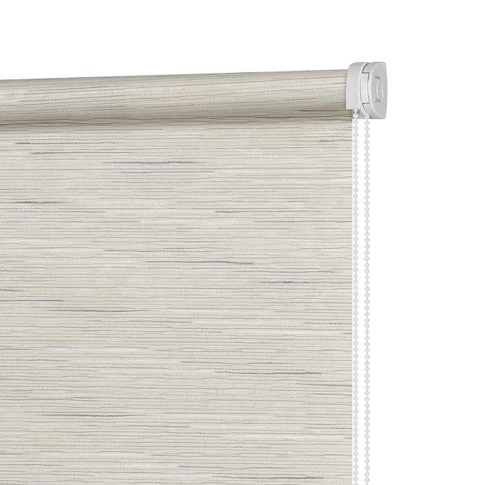 Штора Миниролл Комо бежево-серого цвета 100x160