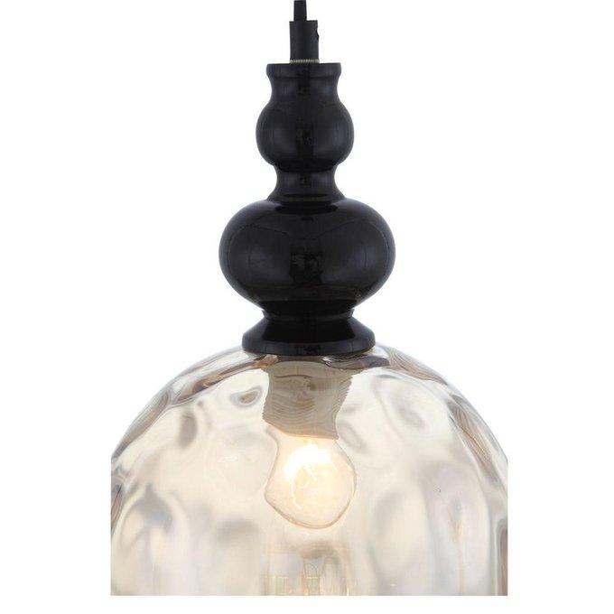 Подвесной светильник Bacineto с янтарным плафоном