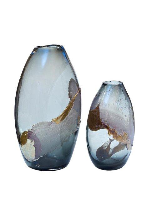 Стеклянная ваза цветная