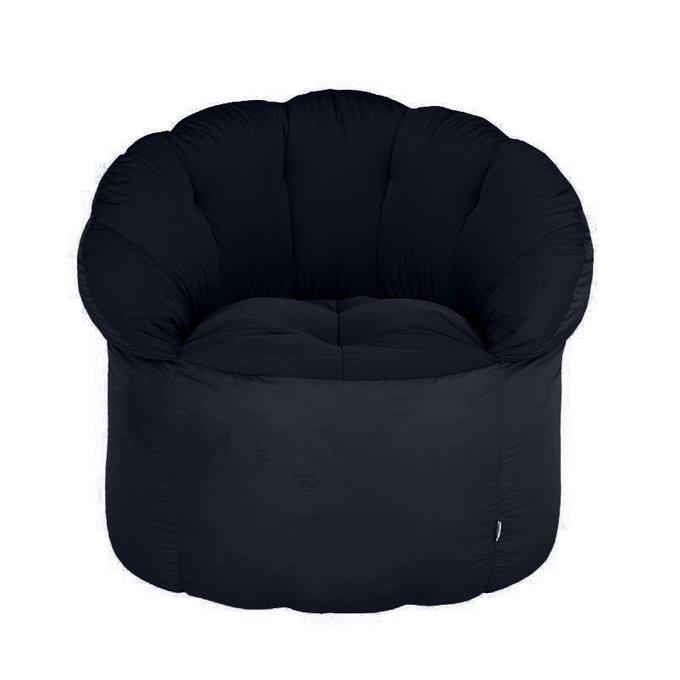 Уличное кресло-пуф темно-синего цвета