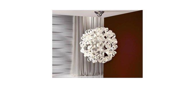 Круглая подвесная люстра Schuller Nova с декоративным плафоном из стекла