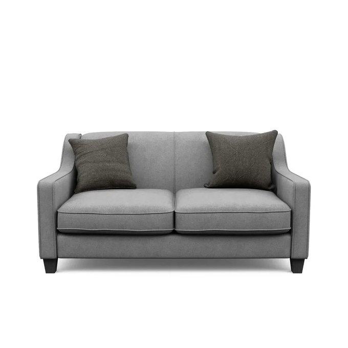 Двухместный диван Агата M серого цвета