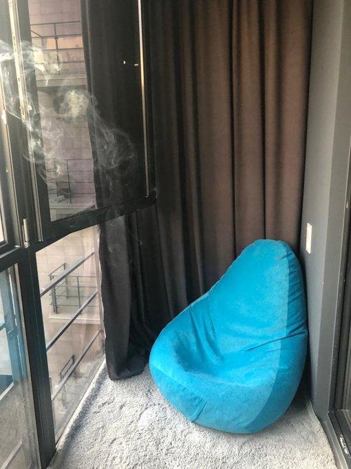 Кресло-мешок Дели бирюзового цвета