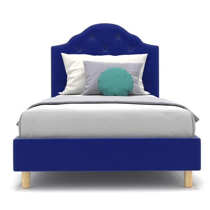 Односпальная кровать Mia kids синего цвета 90х200