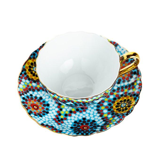 Чайная пара Мозаика Голубая
