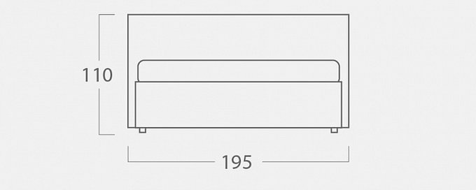 Кровать Монблан Galaxy с подъемным механизмом бежевого цвета 180х200