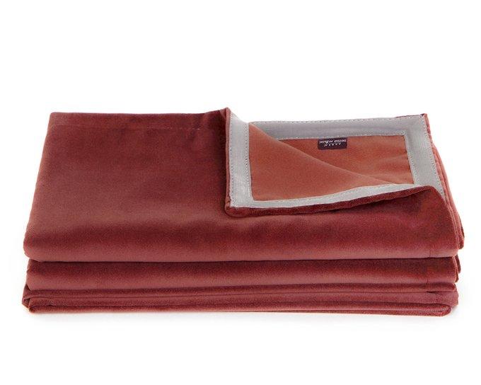 Покрывало Uno Dandy Chilli 140х210 бордового цвета
