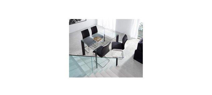Обеденный стол Julia Grup Corner на металлическом каркасе со стеклянной столешницей
