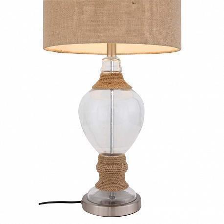 Настольная лампа Ampolla с бежевым абажуром