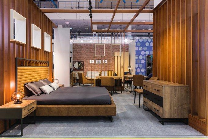 Кровать Loft Грейс Браун с подъемным механизмом и ящиком 180х200