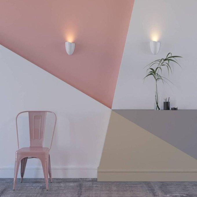 Настенный светодиодный светильник Pamukkale белого цвета